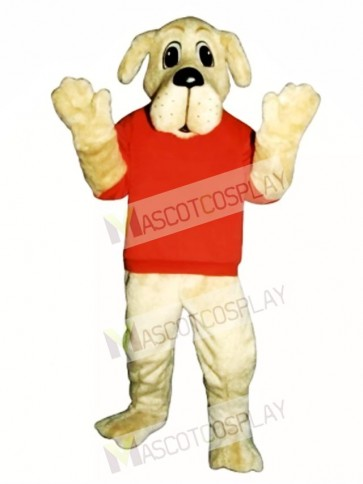 Cute Rah Rah Dog with Shirt Mascot Costume