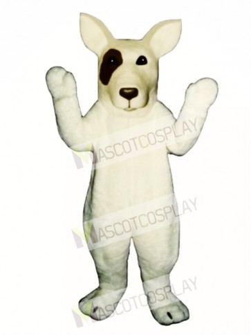 Cute Bull Terrier Dog Mascot Costume