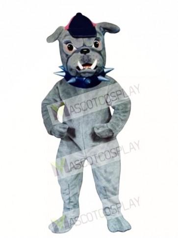 Cute Bulldog with Collar & Hat Mascot Costume