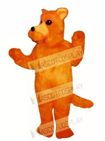 Cute Orange Dog Mascot Costume