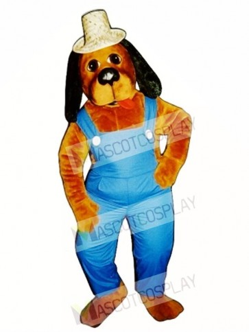 Cute Hoe-Down Hound Dog Mascot Costume
