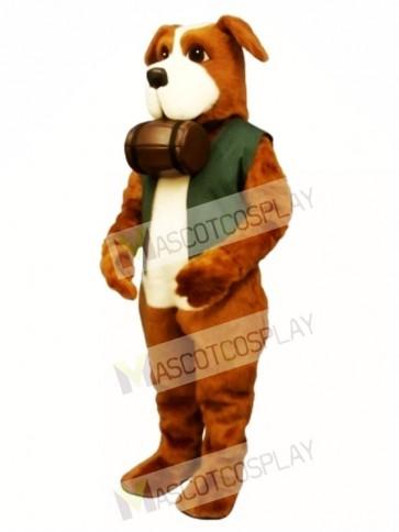 Cute Rescue Rover Dog with Barrel & Vest Mascot Costume