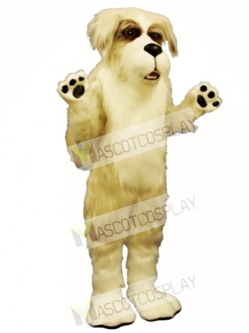 Cute Fluff Dog Mascot Costume