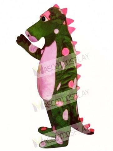 Polka Dot Dragon Mascot Costume