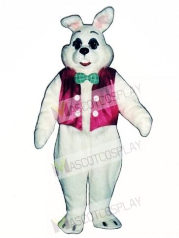 Easter Bunny Rabbit with Vest & Bowtie Mascot Costume