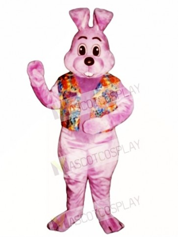 Easter Lavender Louie with Vest Bunny Rabbit Mascot Costume