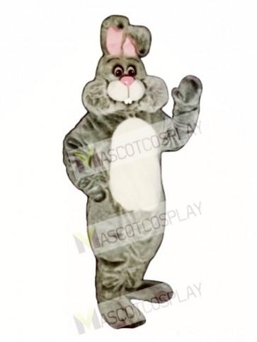 Easter Grey Marshmallow Bunny Rabbit Mascot Costume