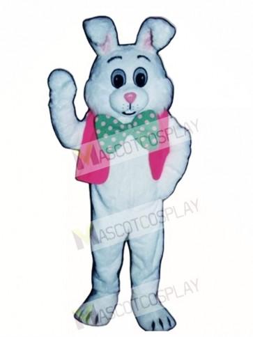 Fat Bunny Rabbit with Vest & Bowtie Mascot Costume