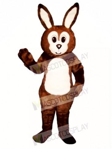 Cute Easter Brown Fat Bunny Rabbit Mascot Costume