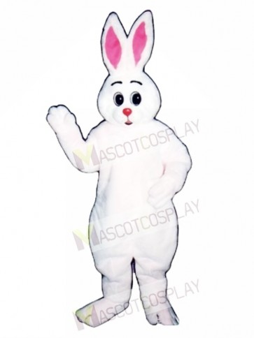 Cute Easter Bunny Rabbit Hugs Mascot Costume