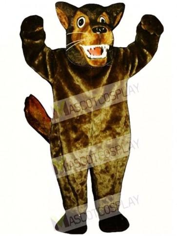 Cute Mean Wolf Mascot Costume