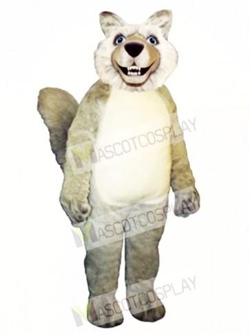 Cute Smiling Wolf Mascot Costume