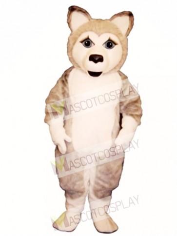 Cute Girl Wolf Mascot Costume