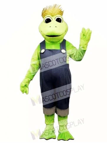 Frog Legs with Hat & Overalls Mascot Costume