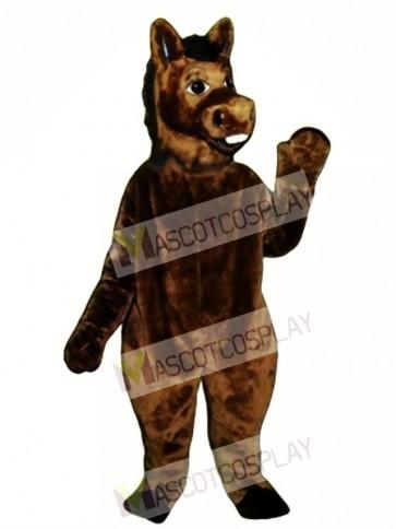 Brown Donkey Mascot Costume