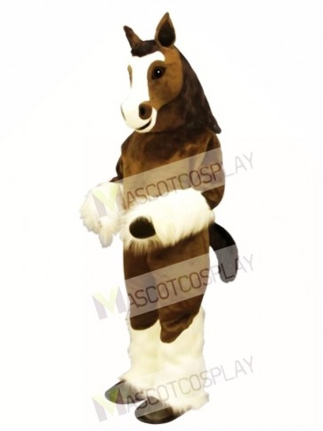 Cute Shirley Shire Horse Mascot Costume
