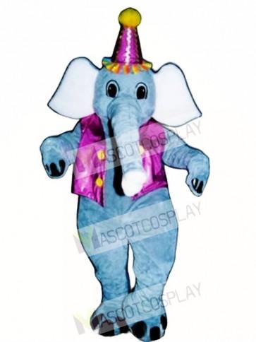Elliot Elephant with Vest & Hat Mascot Costume