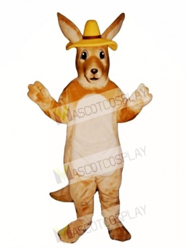 Melbourne Roo Kangaroo with Hat Mascot Costume