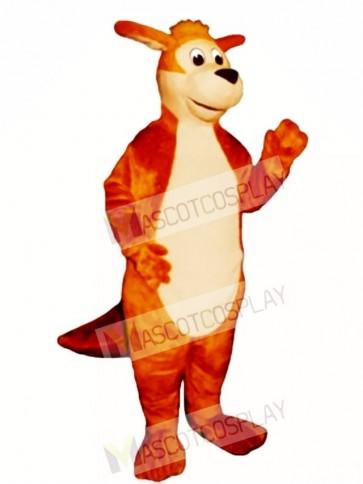 Jumping Kangaroo Mascot Costume