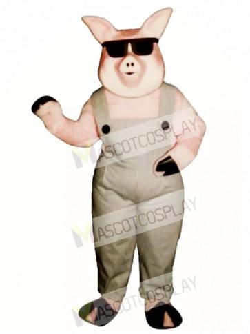 Far-Out Farmer Pig Mascot Costume