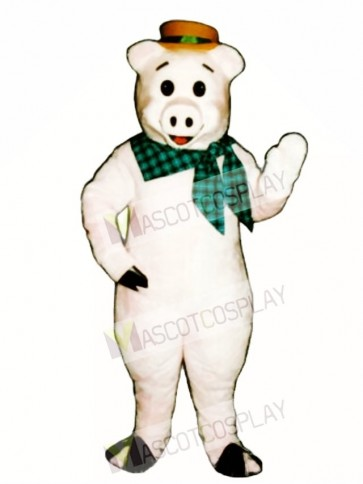 Straw Pig Mascot Costume