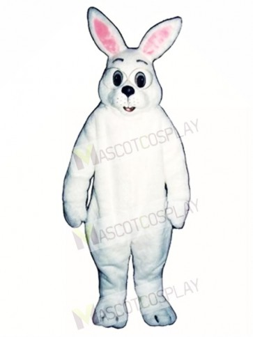 Cute Easter Bunny Rabbit with Glasses Mascot Costume