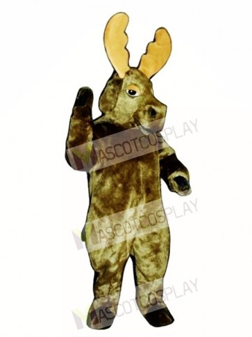 Cute Realistic Moose Mascot Costume