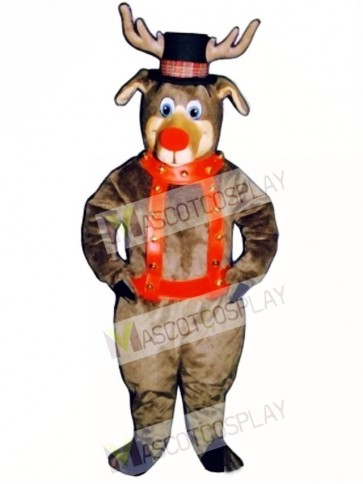 Roscoe Reindeer with Halter & Hat Mascot Costume
