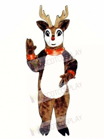 Blinker Deer with Lite-up Nose, Collar & Cuffs Christmas Mascot Costume