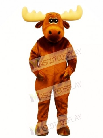 Cute Moony Moose Mascot Costume