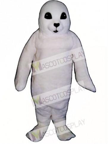 Cute White Baby Seal Mascot Costume