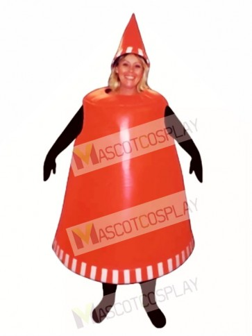 Traffic Cone Mascot Costume