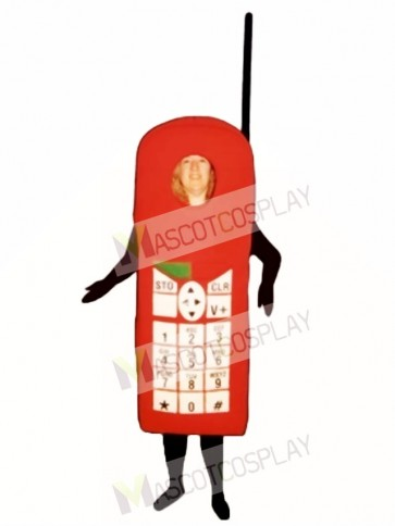 Red Cell Phone Mascot Costume
