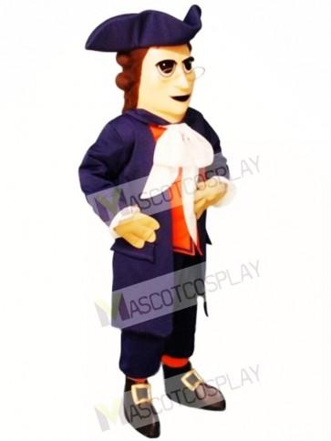 Colonial Man Mascot Costume