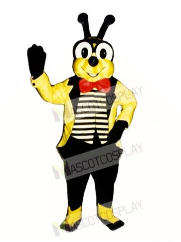 Yellow Bee with Jacket Mascot Costume