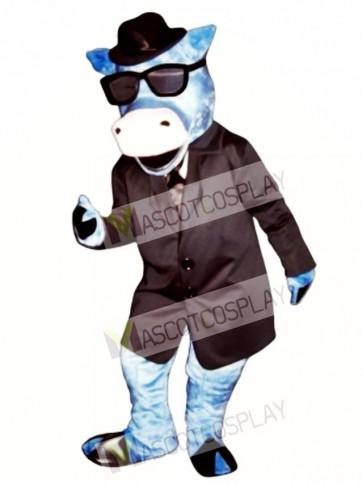 Blues Moo Cattle Mascot Costume