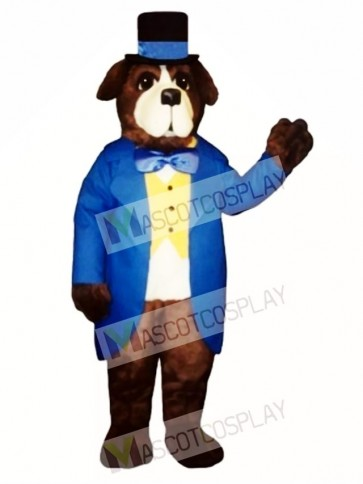 Cute Stanley Bernard Dog Mascot Costume
