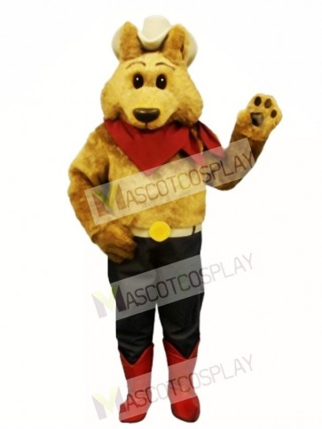 Cute Cowboy Coyote Wolf Mascot Costume