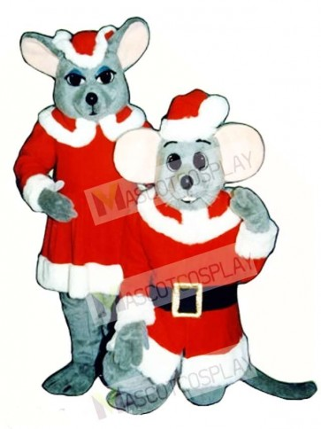 Merry Mouse (Standing) Christmas Mascot Costume