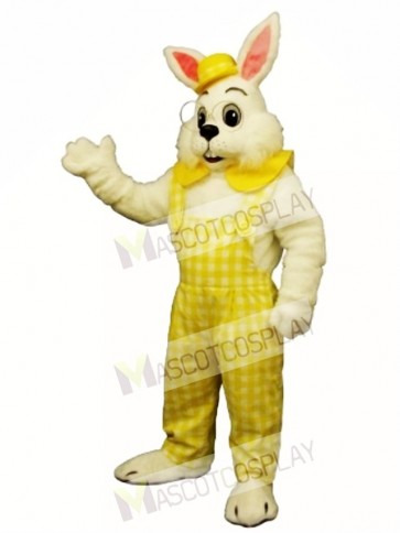 Easter Eggbert Bunny Rabbit with Yellow Cloths Mascot Costume