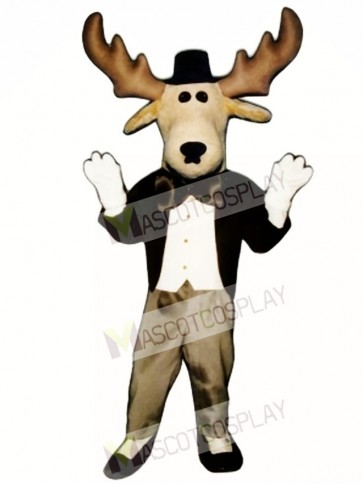 Cute Moose About Town Mascot Costume