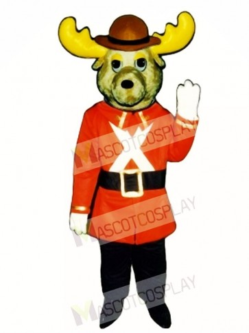 Cute Mountie Moose Mascot Costume