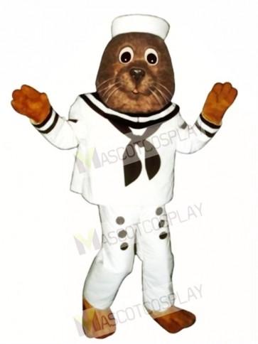 Cute Sailing Otter Mascot Costume