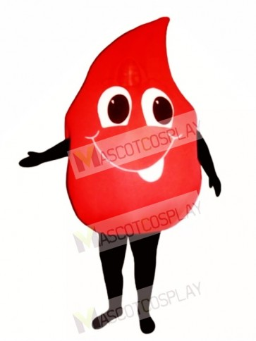 Blood Drop Mascot Costume