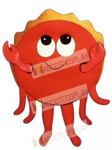 Cute Happy Crab Mascot Costume