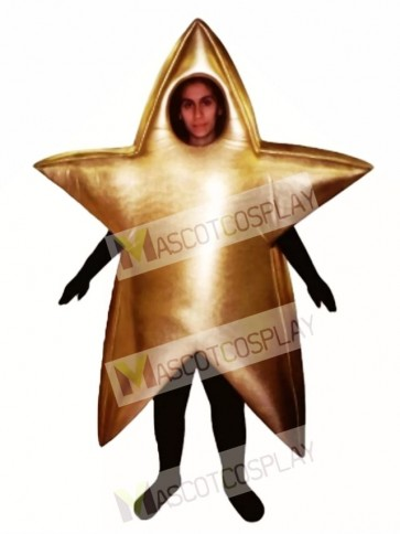 Gold Star Mascot Costume