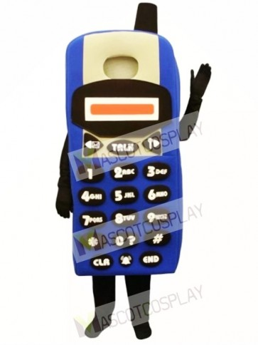 Blue Cell Phone Mascot Costume