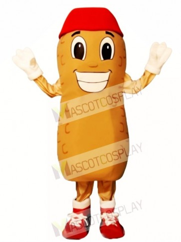 Home Run Peanut with Hat & Shoes Mascot Costume