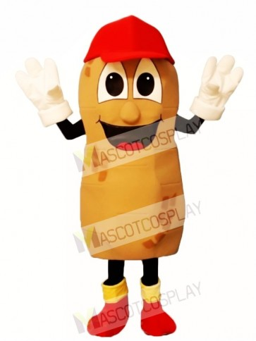 Umpire Peanut with Hat, Shoes & Gloves Mascot Costume