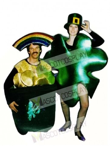 Shamrock Mascot Costume